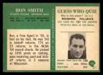 1966 Philadelphia #11  Ron Smith  Back Thumbnail