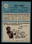 1964 Philadelphia #118  Dick James   Back Thumbnail