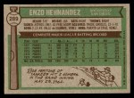 1976 Topps #289  Enzo Hernandez  Back Thumbnail