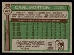 1976 Topps #328  Carl Morton  Back Thumbnail