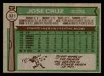 1976 Topps #321  Jose Cruz  Back Thumbnail