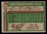 1976 Topps #428  Jim Crawford  Back Thumbnail