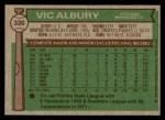 1976 Topps #336  Vic Albury  Back Thumbnail