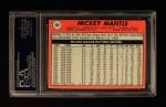 1969 Topps #500 WN Mickey Mantle  Back Thumbnail