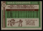 1976 Topps #122  Mike Cosgrove  Back Thumbnail