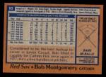 1978 Topps #83  Bob Montgomery  Back Thumbnail