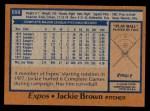 1978 Topps #699  Jackie Brown  Back Thumbnail