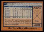 1978 Topps #482  Rick Miller  Back Thumbnail