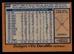 1978 Topps #539  Vic Davalillo  Back Thumbnail
