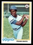 1978 Topps #248  Frank White  Front Thumbnail