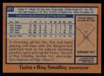 1978 Topps #471  Roy Smalley  Back Thumbnail