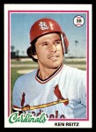1978 Topps #692  Ken Reitz  Front Thumbnail