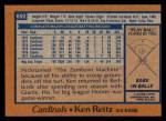 1978 Topps #692  Ken Reitz  Back Thumbnail