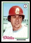1978 Topps #161  Bob Boone  Front Thumbnail