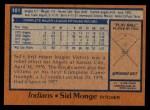 1978 Topps #101  Sid Monge  Back Thumbnail