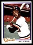 1978 Topps #512  Larry Herndon  Front Thumbnail