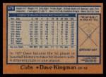 1978 Topps #570  Dave Kingman  Back Thumbnail