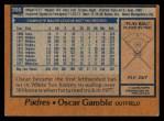 1978 Topps #390  Oscar Gamble  Back Thumbnail