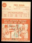 1963 Topps #161  Fred Dugan  Back Thumbnail