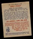 1949 Bowman #4 NNOF Jerry Priddy  Back Thumbnail