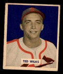 1949 Bowman #137  Ted Wilks  Front Thumbnail