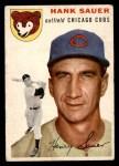 1954 Topps #4 WHT Hank Sauer  Front Thumbnail
