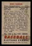 1951 Bowman #150  Mike Garcia  Back Thumbnail