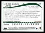 2014 Topps #27  Michael Choice  Back Thumbnail