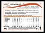 2014 Topps #41  Adeiny Hechavarria  Back Thumbnail