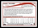 2014 Topps #43  Mark Trumbo  Back Thumbnail