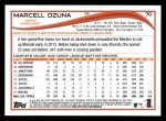 2014 Topps #70  Marcell Ozuna  Back Thumbnail
