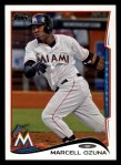 2014 Topps #70  Marcell Ozuna  Front Thumbnail
