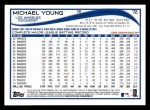 2014 Topps #72  Michael Young  Back Thumbnail