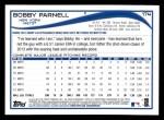 2014 Topps #174  Bobby Parnell  Back Thumbnail