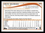 2014 Topps #190   -  Kevin Gausman Future Stars Back Thumbnail