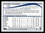 2014 Topps #211  Dioner Navarro  Back Thumbnail