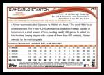 2014 Topps #217  Giancarlo Stanton  Back Thumbnail