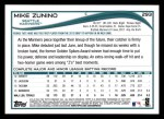 2014 Topps #293   -  Mike Zunino Future Stars Back Thumbnail