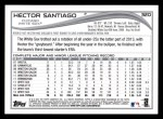 2014 Topps #320  Hector Santiago  Back Thumbnail