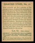 1935 Diamond Stars #52  George Tuck Stainback   Back Thumbnail