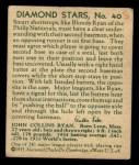 1935 Diamond Stars #40  Blondy Ryan   Back Thumbnail