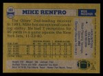 1982 Topps #103  Mike Renfro  Back Thumbnail