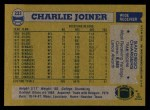 1982 Topps #233  Charlie Joiner  Back Thumbnail