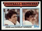 1982 Topps #267  John Hannah / Charley Hannah  Front Thumbnail