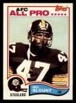 1982 Topps #203  Mel Blount  Front Thumbnail