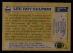 1982 Topps #505  Lee Roy Selmon  Back Thumbnail