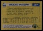 1982 Topps #414  Wayne Wilson  Back Thumbnail