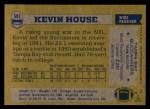1982 Topps #501  Kevin House  Back Thumbnail