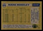 1982 Topps #516  Mark Moseley  Back Thumbnail