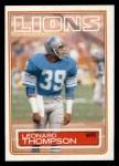 1983 Topps #72  Leonard Thompson  Front Thumbnail